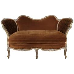 Continental Velvet Loveseat