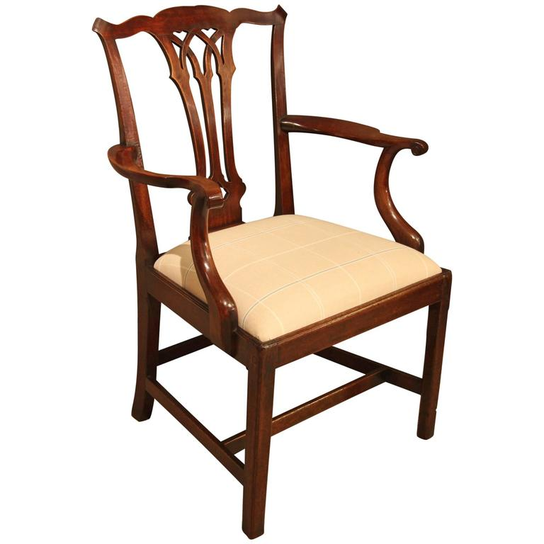 handsome mahogany chippendale period desk or armchair. Black Bedroom Furniture Sets. Home Design Ideas