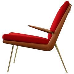 """""""Boomerang"""" Easy Chair by Peter Hvidt & Orla Molgaard Nielsen Mod. Fd-134"""