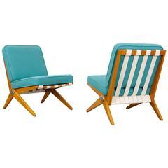 "Set of Two ""Scissor"" Chairs by Pierre Jeanneret - Knoll International"