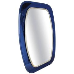 1960s Striking Blue, Mirror by Cristal-Luxor