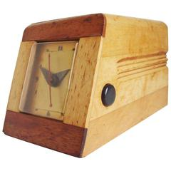 "Rare American Art Deco Limited Edition Wooden Cased ""Vgoue"" Electric Desk Clock"