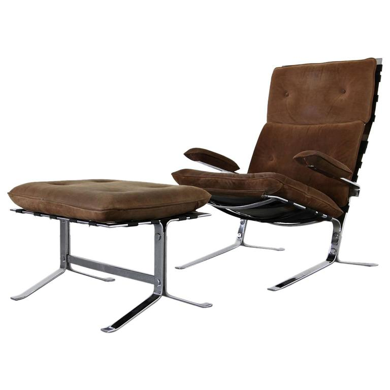 """Suede Lounge Chair """"Joker"""" by Olivier Mourgue for Airborne For Sale"""