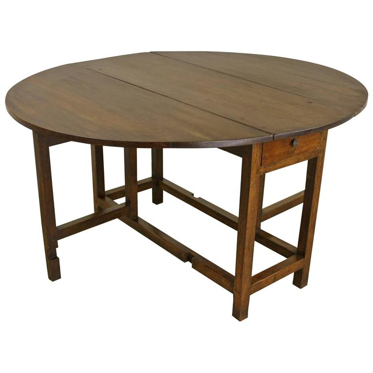 Period English Oak Gateleg Dining Table For Sale