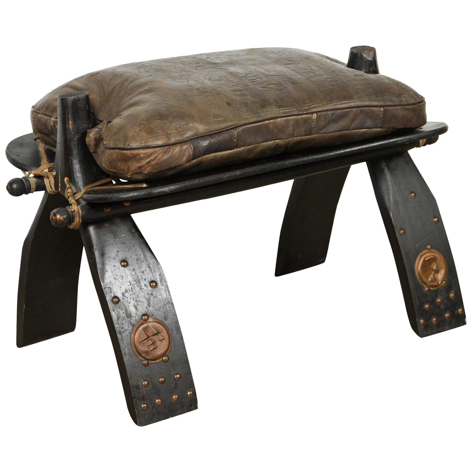 Camel Saddle Seat Footstool At 1stdibs
