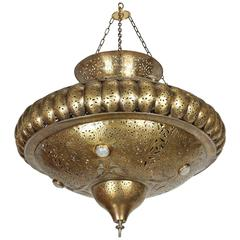 Moroccan Brass Pendant in Alberto Pinto Style