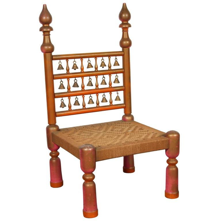 Rajasthani Indian Style Side Chair For Sale