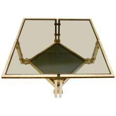 Romeo Rega Square Brass Coffee Table