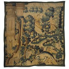 17th Century Tapestry Fragment from Flanders