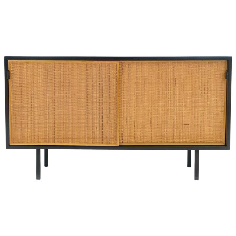 Early Florence Knoll Credenza Black Lacquered Case With