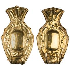 Early 20th Century Brass Candle Sconces