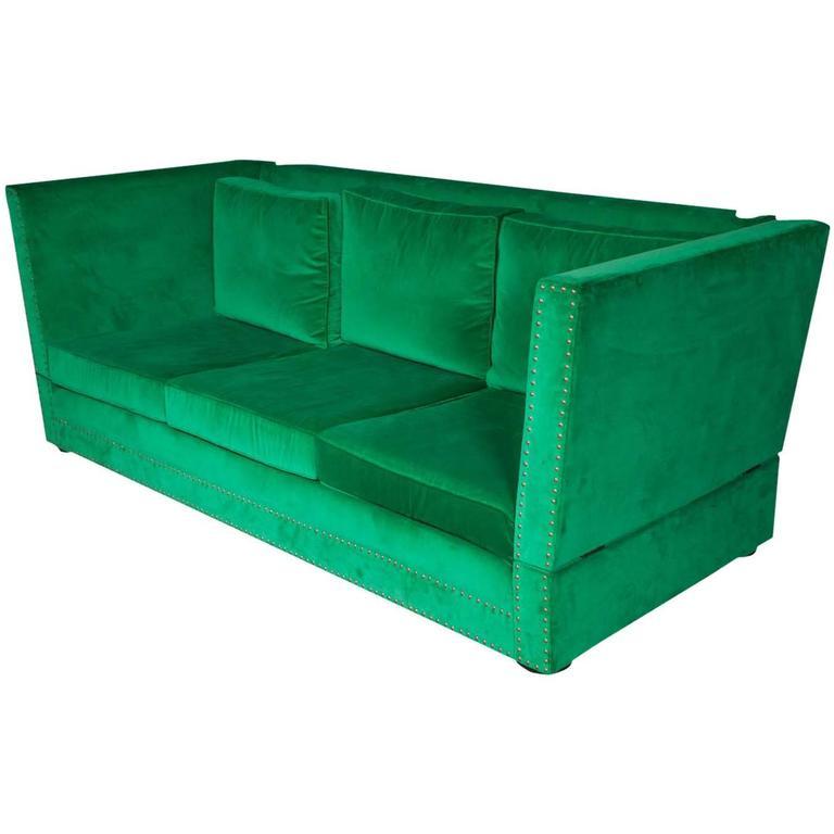 Bespoke green velvet carrington sofa by pitfield london for Sofa bespoke