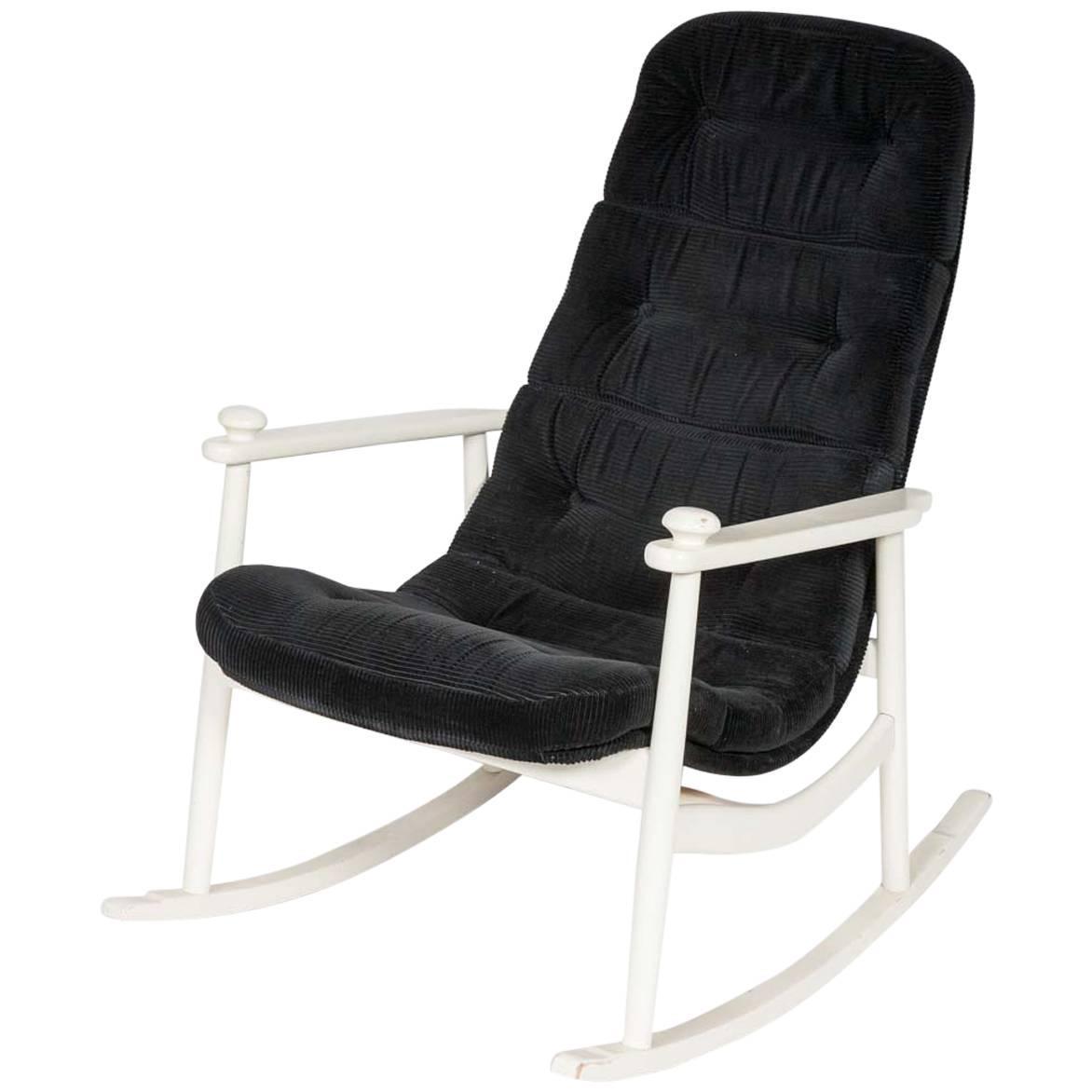 White Frame Rocking Chair At 1stdibs