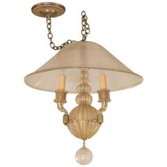 Diminutive Gold Glass Chandelier by Venini