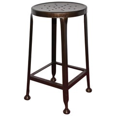 Industrial Metal Drafting Stool