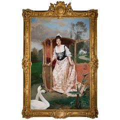 Raimundo de Madrazo Y Garreta Palatial Oil on Canvas