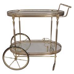 LaBarge Oval Bar Cart