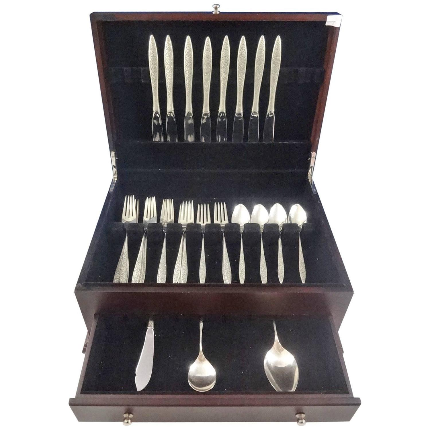 Spanish Lace by Wallace Sterling Silver Flatware Service ...
