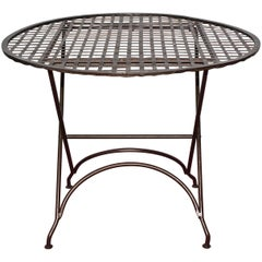 French Folding Bistro Table