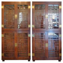 Pair of Fretwork Cabinets by Henredon