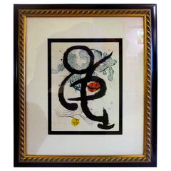 Abstract Contemporary Color Lithograph by Joan Miró Limited Edition