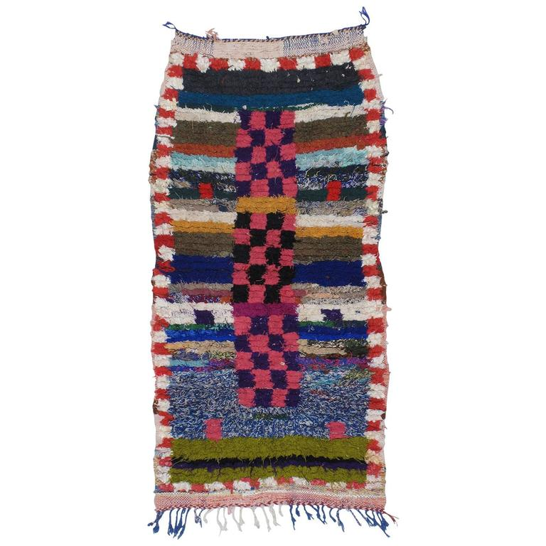 """Moroccan Boucherouite Rug For Sale At 1stdibs: Small Moroccan """"Boucherouite"""" Or Azilal Rug For Sale At"""