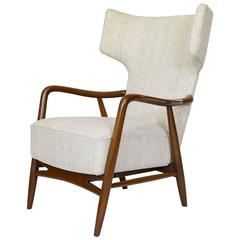 Eva & Niles Koppell Wingback Lounge Chair