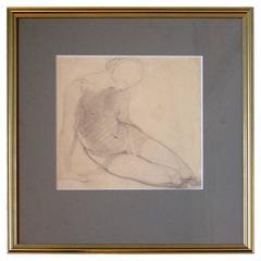 Seated Nude Pencil Sketch