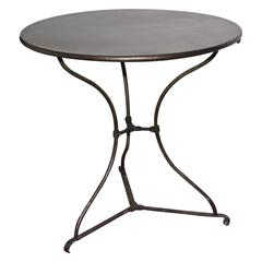 Antique French Round Bistro Table