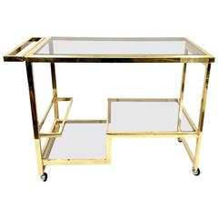 Brass Bar Cart by Nazaret for Cidue Italy
