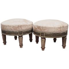 Pair of Petite Louis XVI Footstools