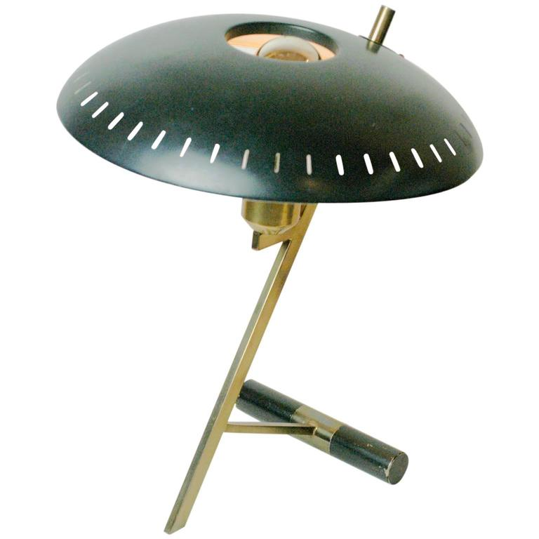 """Brass """"Z-Table Lamp"""" By Louis Kalff For Philips At 1stdibs"""