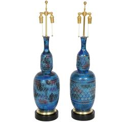 "Pair Aldo Londi for Bitossi ""Rimini"" Lamps"