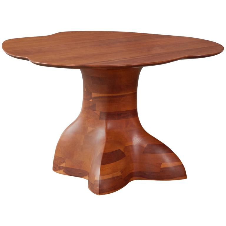 Unique Coffee Table In Stack Laminated Cherry By Wendell Castle USA