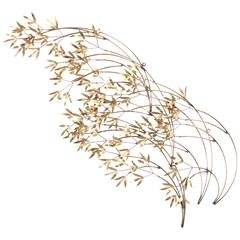 Curtis Jere Brass Willow Wall Sculpture, 1970