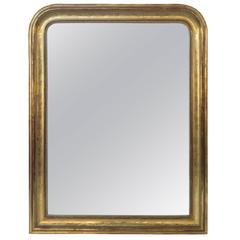 Large Louis Philippe Gilt Mirror