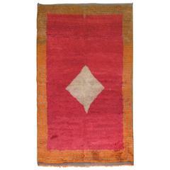 Vintage Turkish Tulu Medallion Carpet