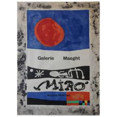 Mid-Century Galerie Maeght Miro Screenprint