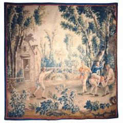 "18th Century French Aubusson Tapestry ""Le Cheval Fondu"" by J.B. Huet"
