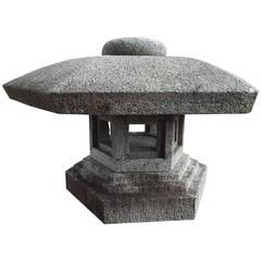 Japan Lantern, Carved Granite, Perfect  Indoor or Outdoor Free Shipping
