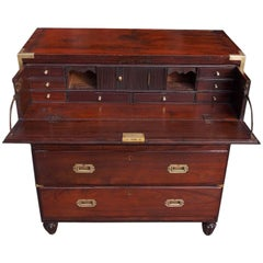 Cuban Military Campaign Chest of Drawers with Fitted Desk, Circa 1790