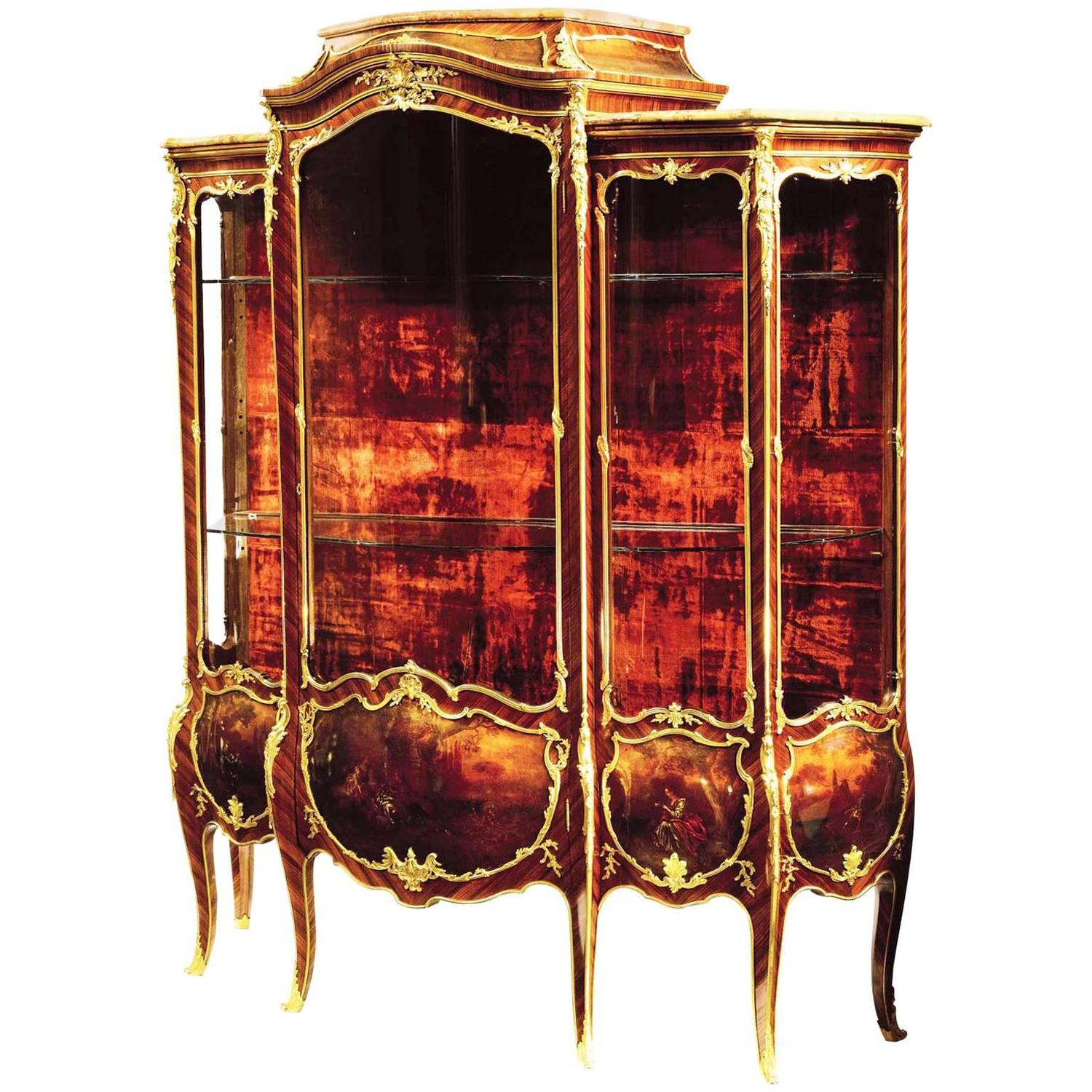 Fran ois linke louis xv style ormolu mounted vernis martin for Miroir louis xv