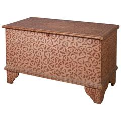 Rare and Unusual Paint-Decorated Blanket Chest