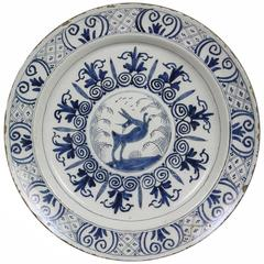 Large Delft Blue and White Plate