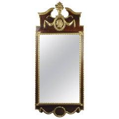 Danish Neoclassical Mahogany and Parcel Gilt Mirror