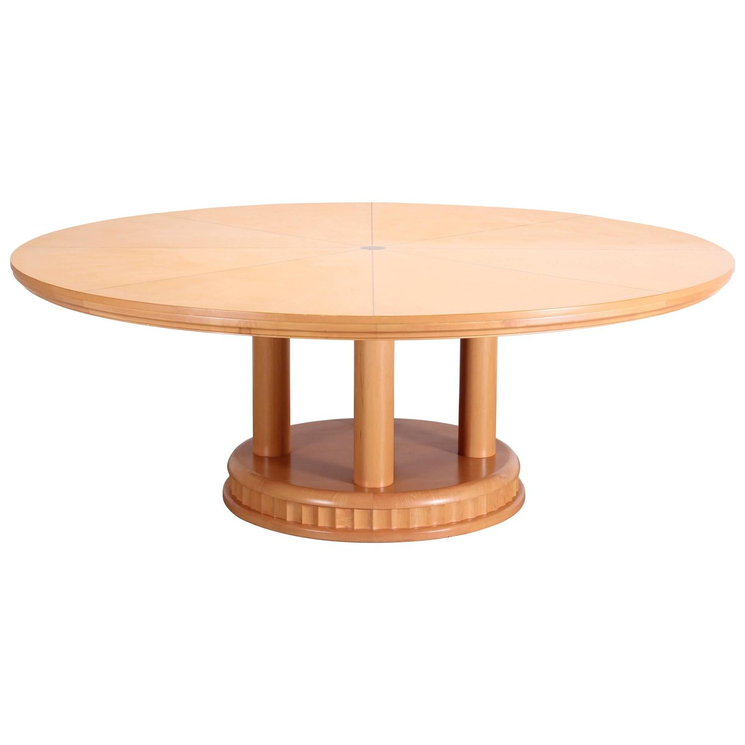 Custom contemporary biedermeier round dining table 2000 for Unique round dining tables