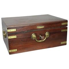 George III Mahogany and Brass Bound Box
