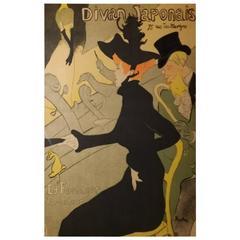 """Henri de Toulouse-Lautrec """"Divan Japonais"""", Lithograph in Colors, 1893"""