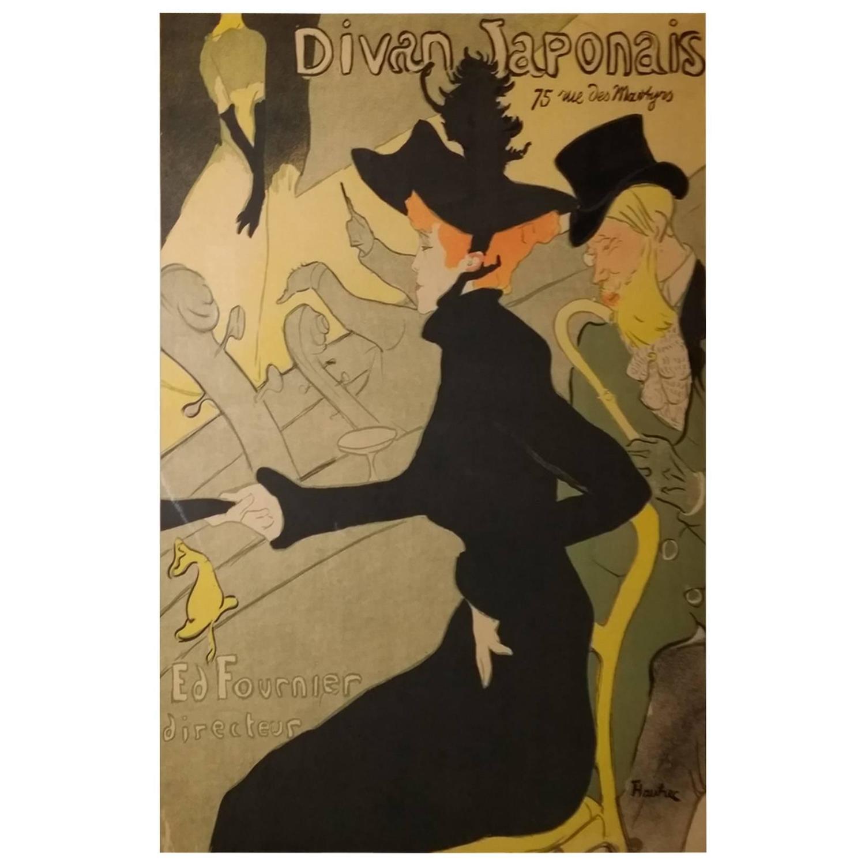 henri de toulouse lautrec divan japonais lithograph in colors 1893 for sale at 1stdibs. Black Bedroom Furniture Sets. Home Design Ideas