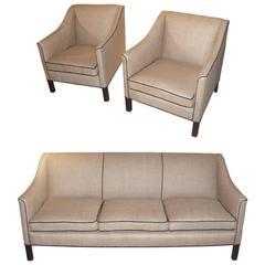 Danish Cabinet-Maker Sofa Set, 1940s